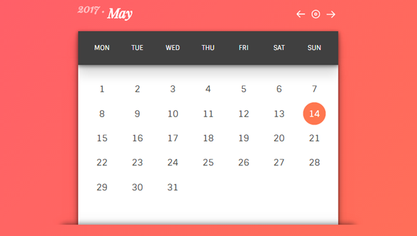 Demo Image: Infinite Calendar