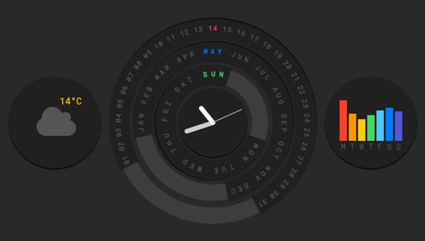 Demo Image: Circular Calendar Display