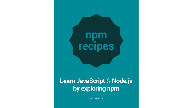 Cover book: npm recipes