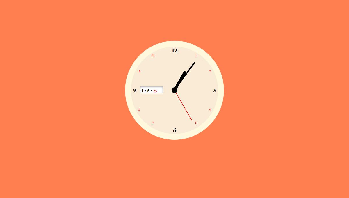 Demo image: JS and CSS Clock