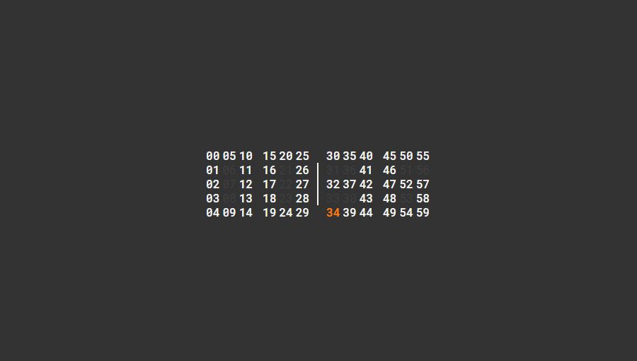 Demo image: Typographic Clock