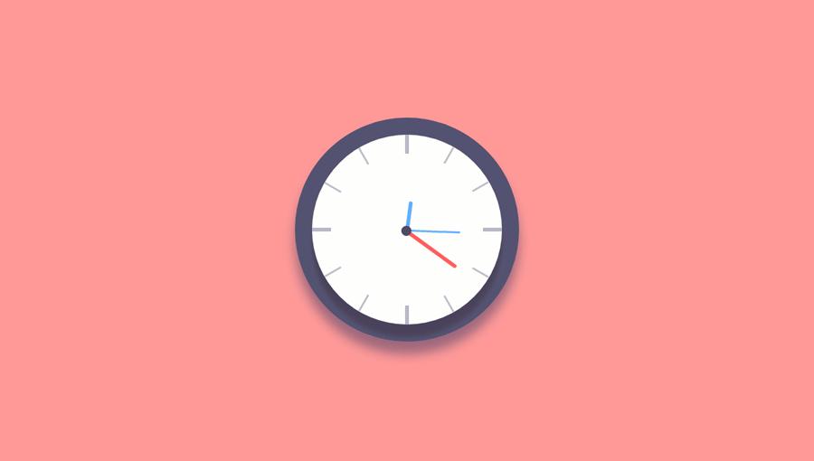 Demo image: JS + CSS Clock