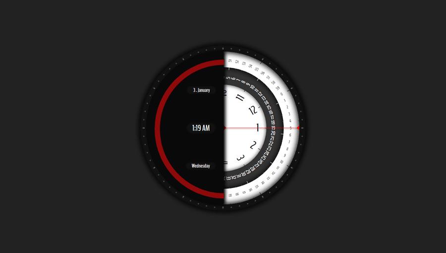 Demo image: Analog Digital Clock