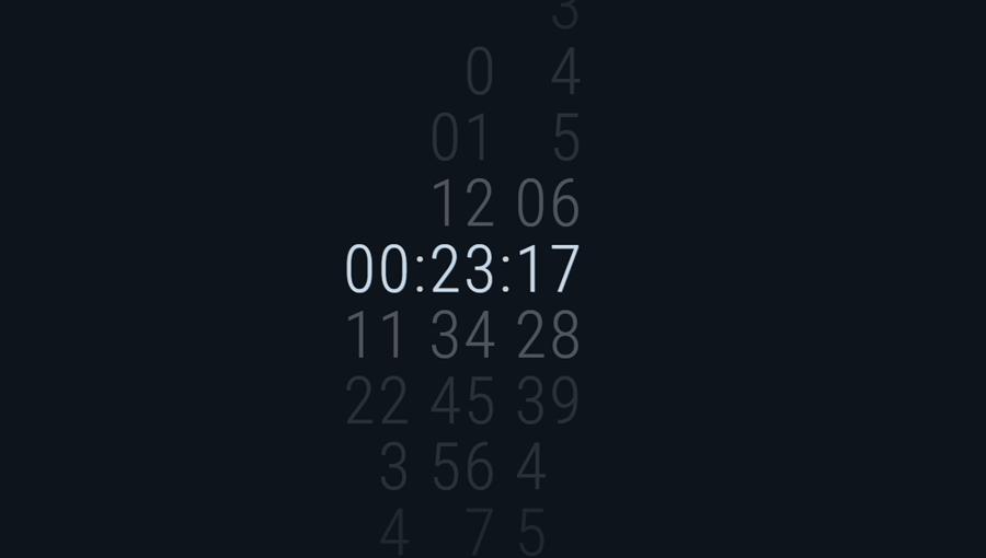 Demo image: Slide Clock