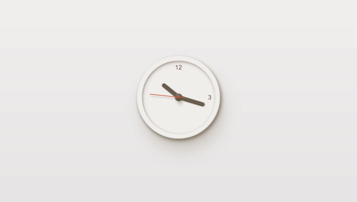 Demo image: CSS Clock