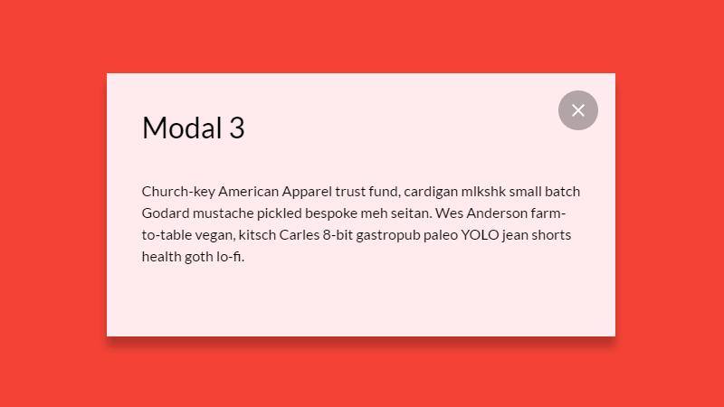 Demo Image: Responsive Modal Design