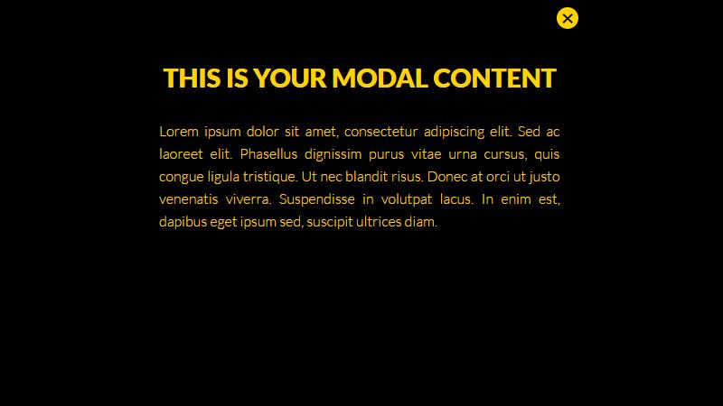 Demo Image: No JS Modal Popup Window