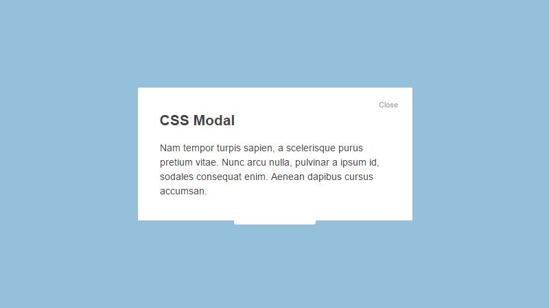 Demo Image: Basic CSS Modal