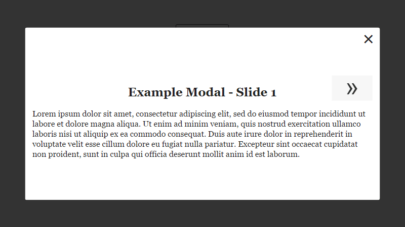 Demo Image: Pure CSS Modal + Slider