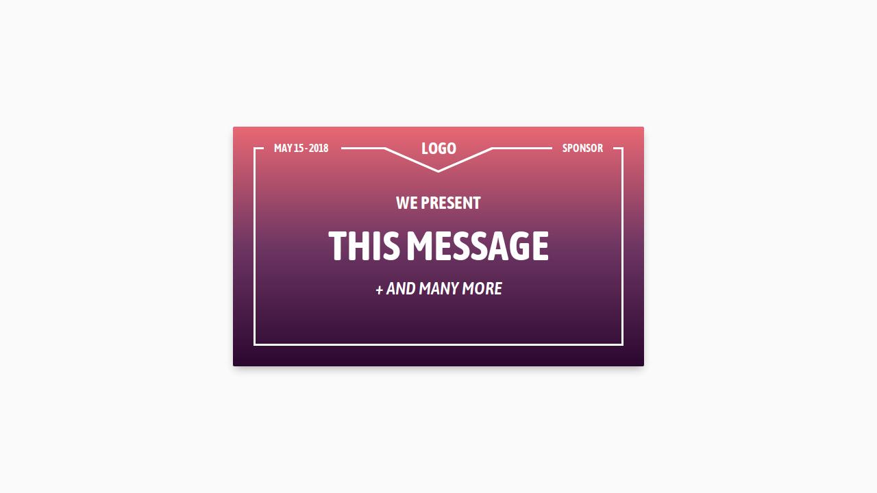 Demo image: Inspiration Business Card