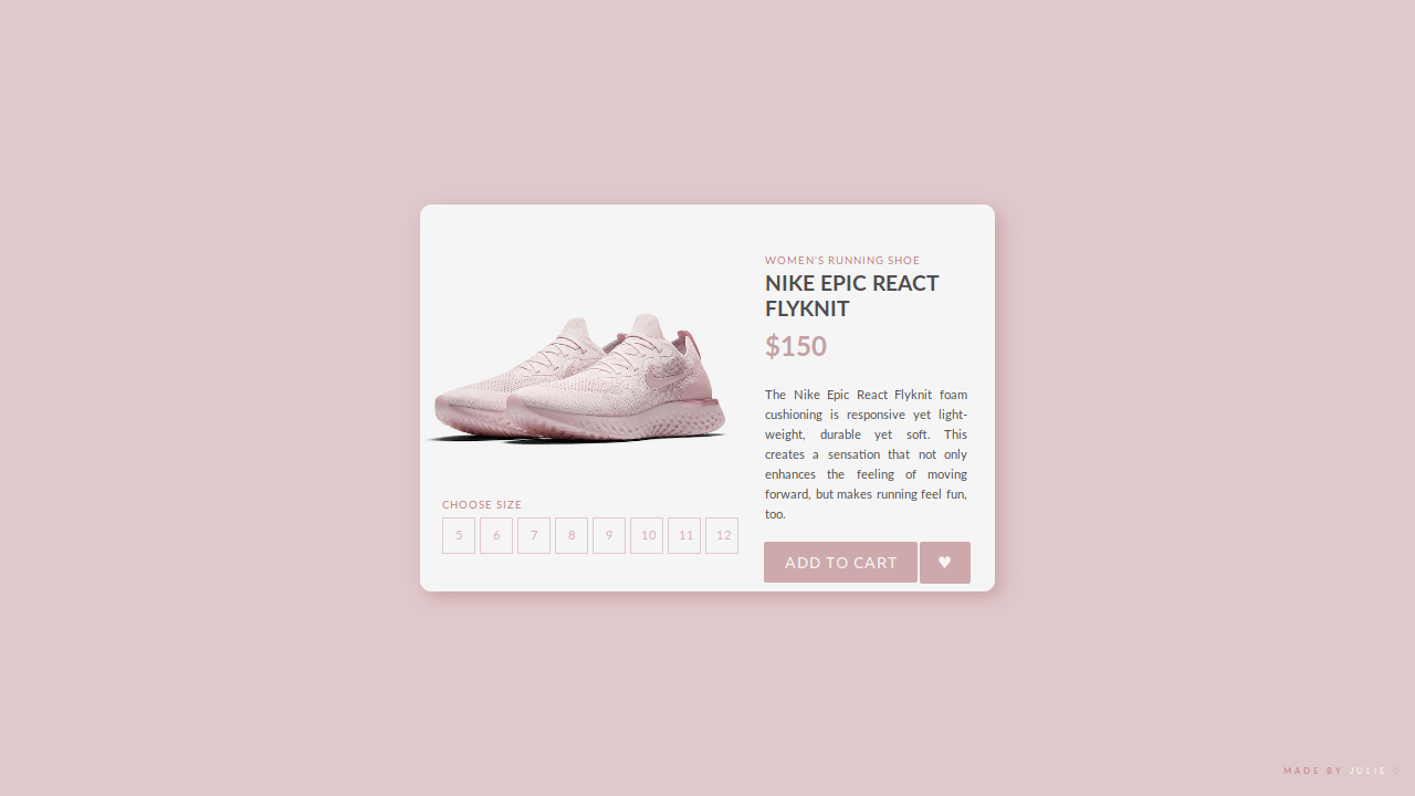 Demo image: UI E-commerce Shop Single Item