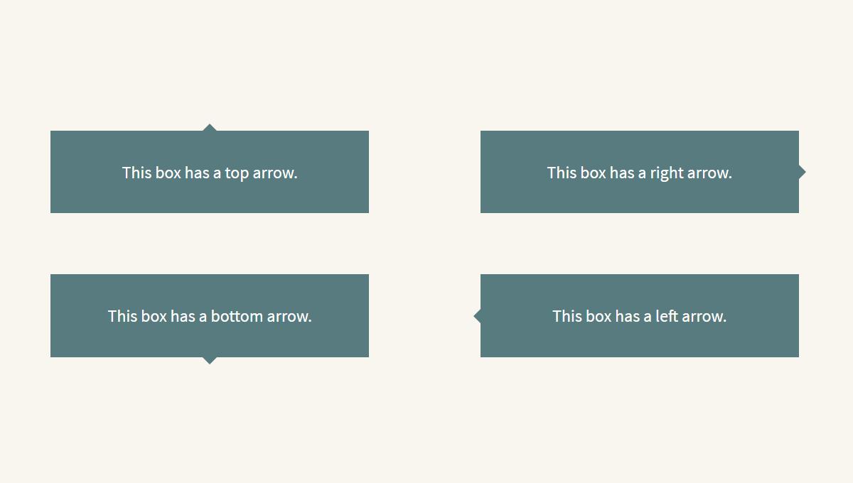 Demo image: SASS @mixin For CSS Arrows