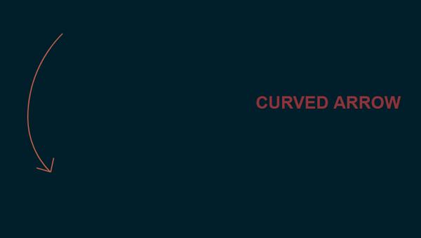 Demo Image: Curved Arrow