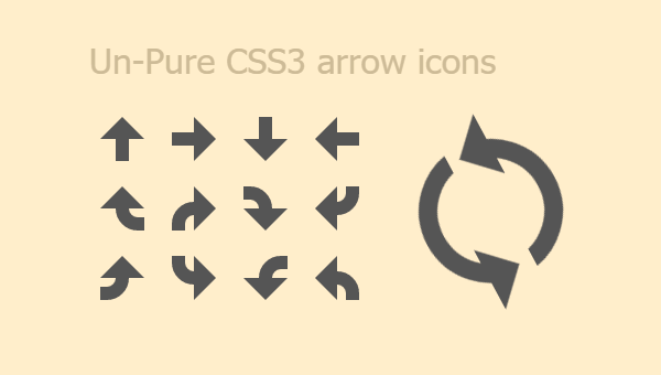 Demo Image: CSS3 Arrow Icons
