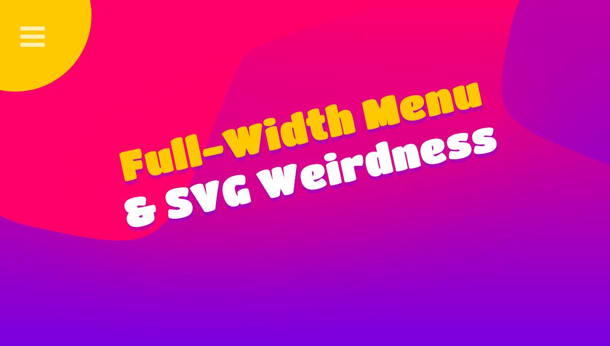 Demo image: CSS Full Width Menu
