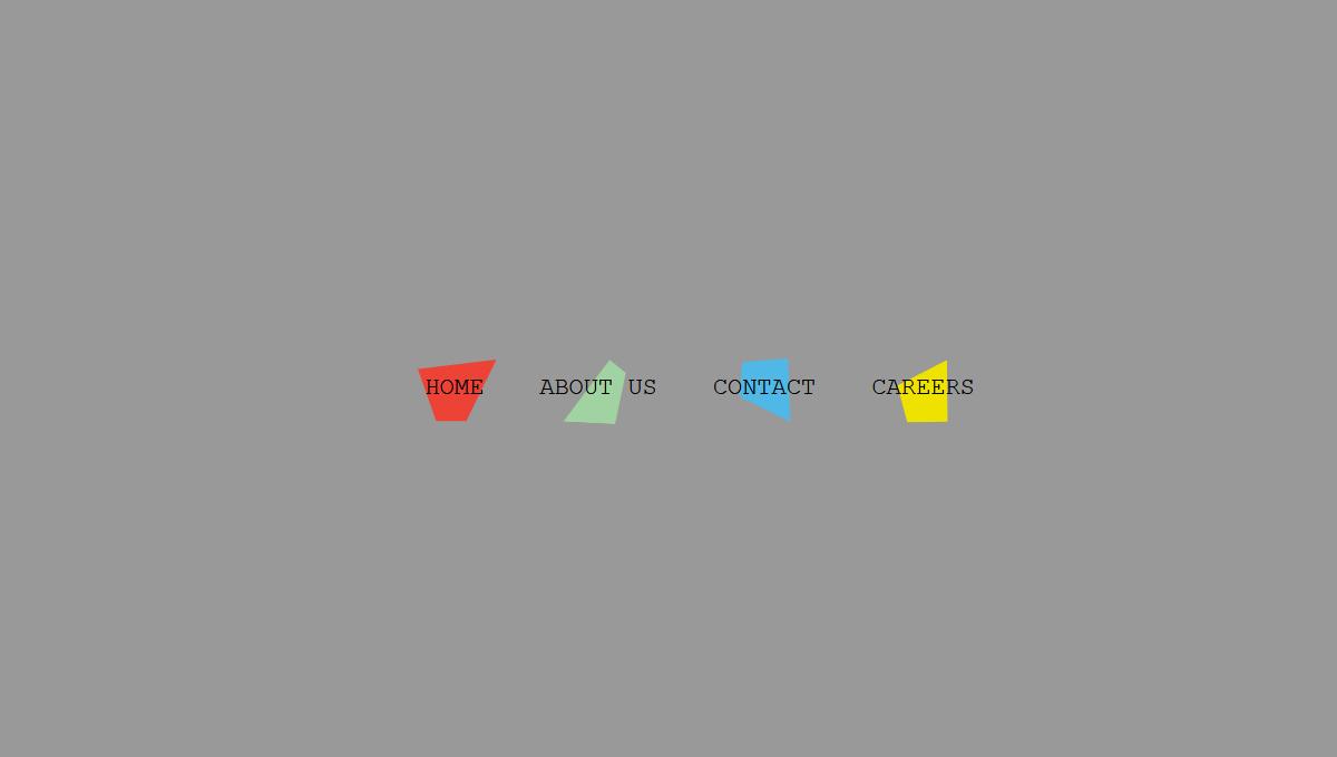 Demo image: CSS Horizontal Menu