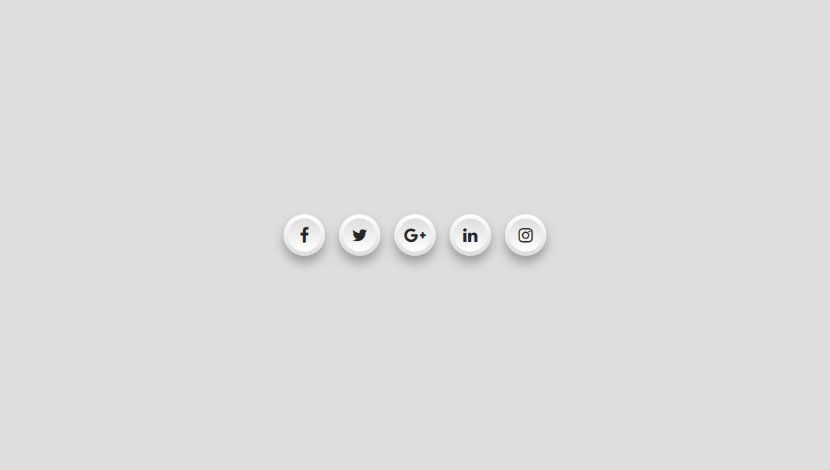Demo image: Social Media Icons