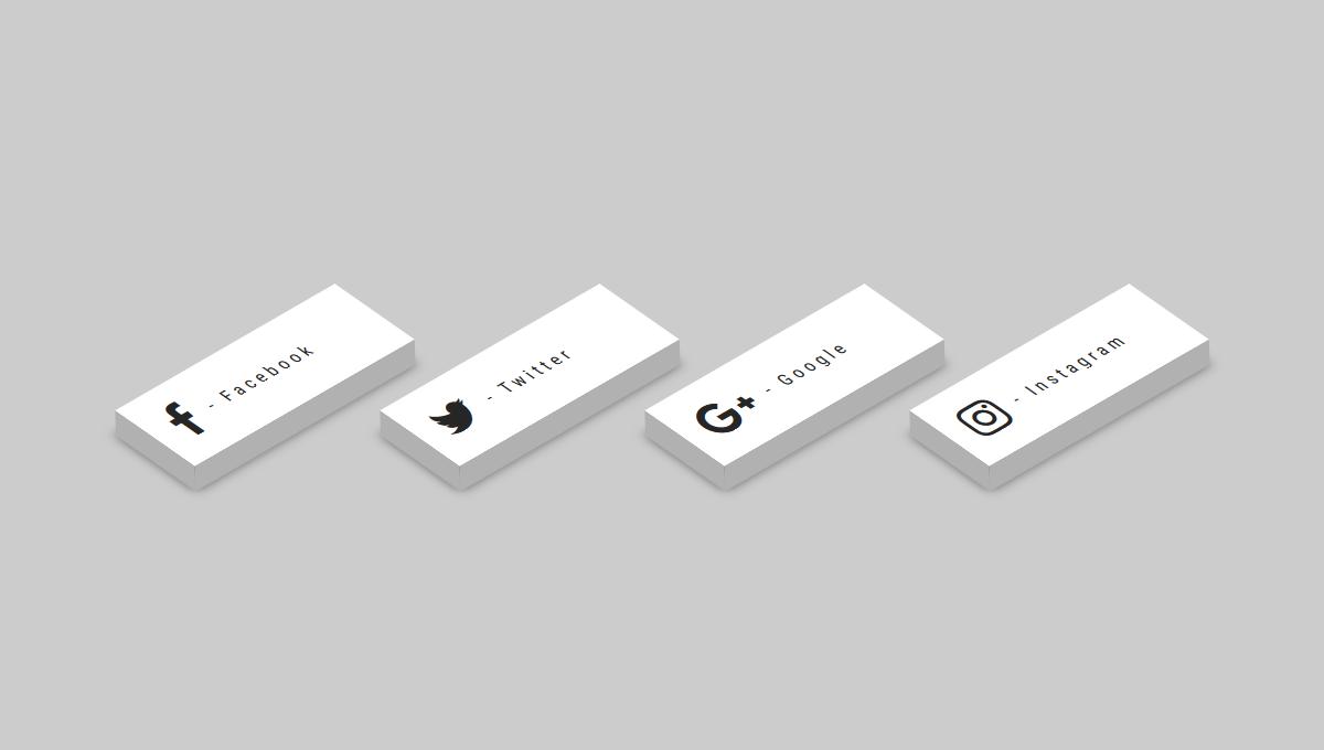 Demo image: 3D - CSS Social Tiles