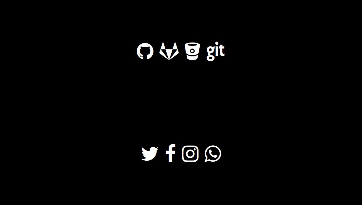 Demo image: Social Icons