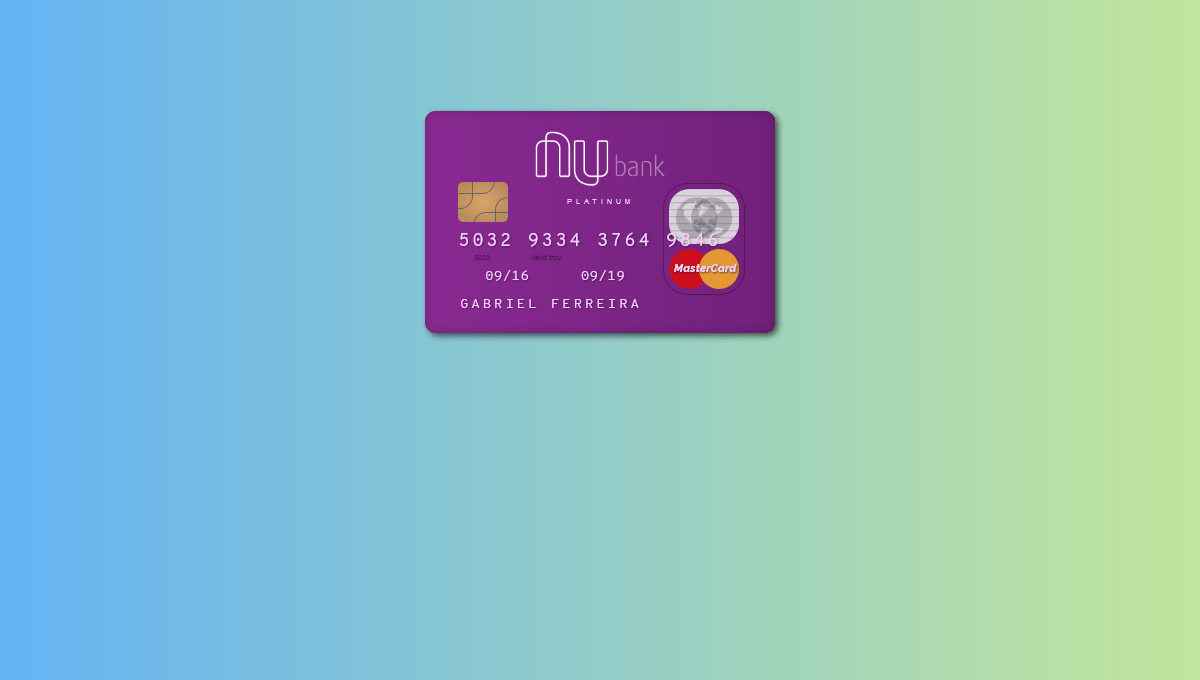 Demo image: Nubank Credit Card
