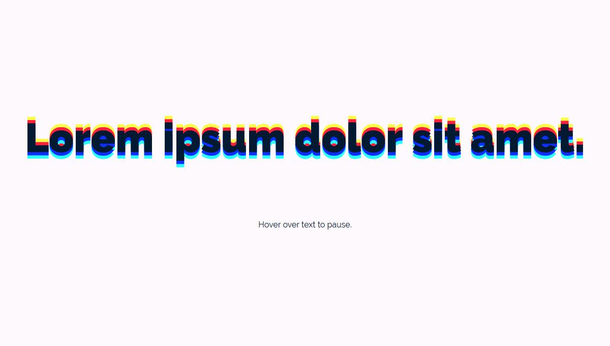 Demo image: Animated text-shadow