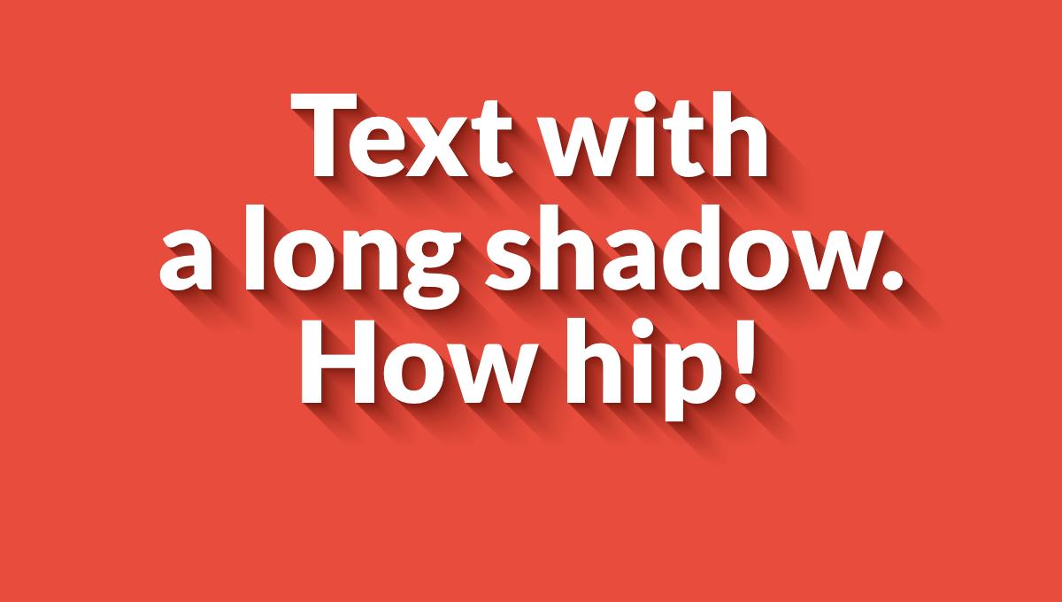 Demo image: Long Shadow Gradient Mixin