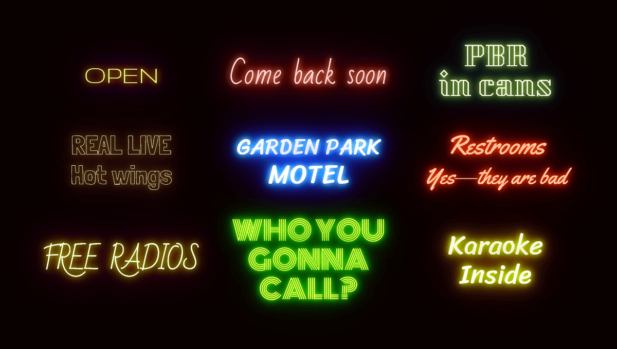 Demo image: Neon Effect
