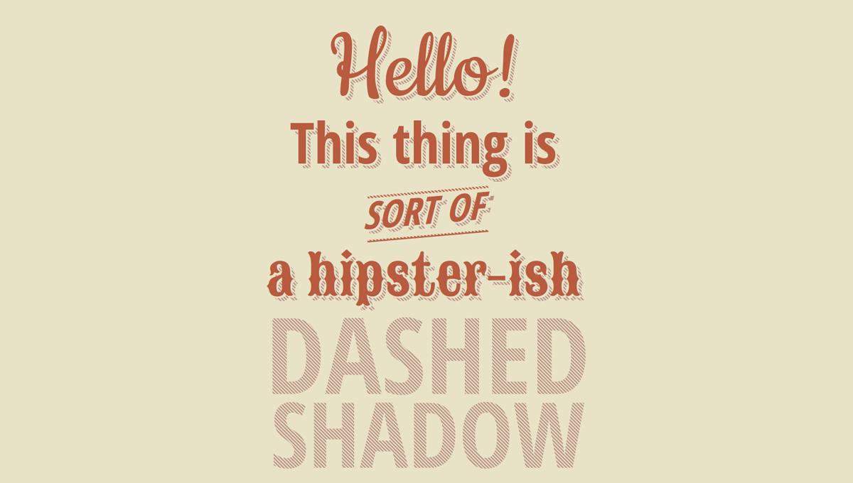 Demo image: CSS Dashed Shadow
