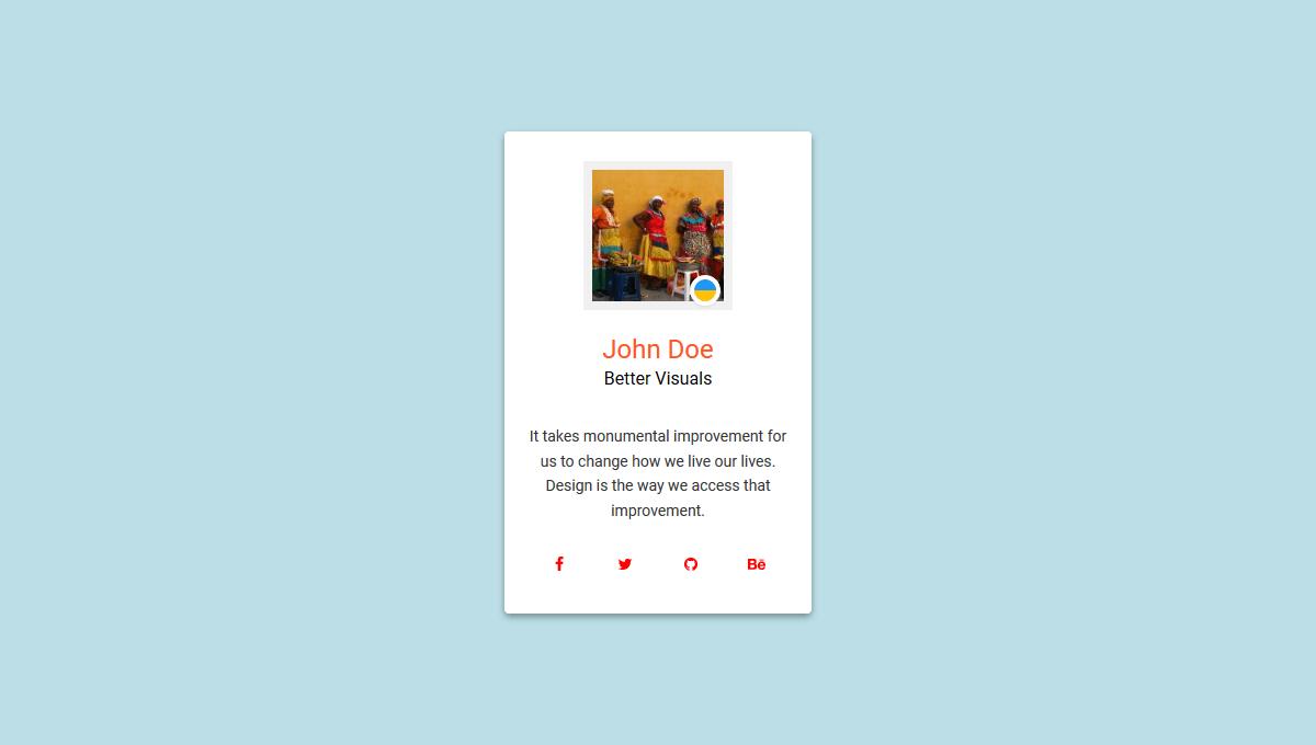 Demo image: Profile Card