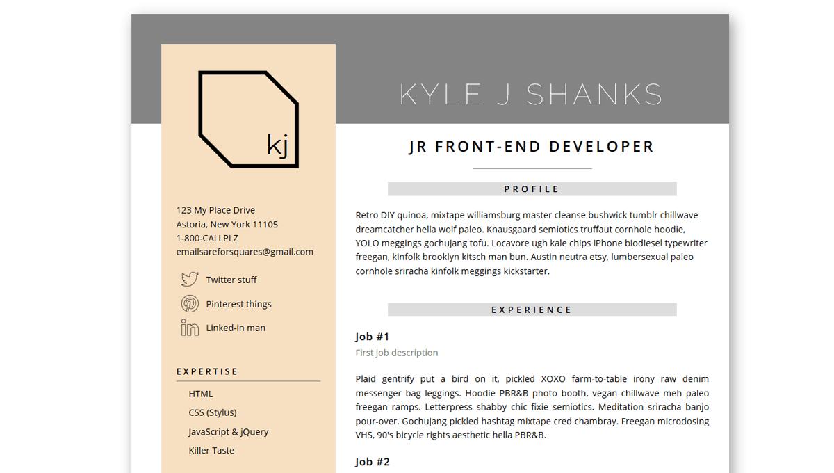 Demo image: Resume Stuff