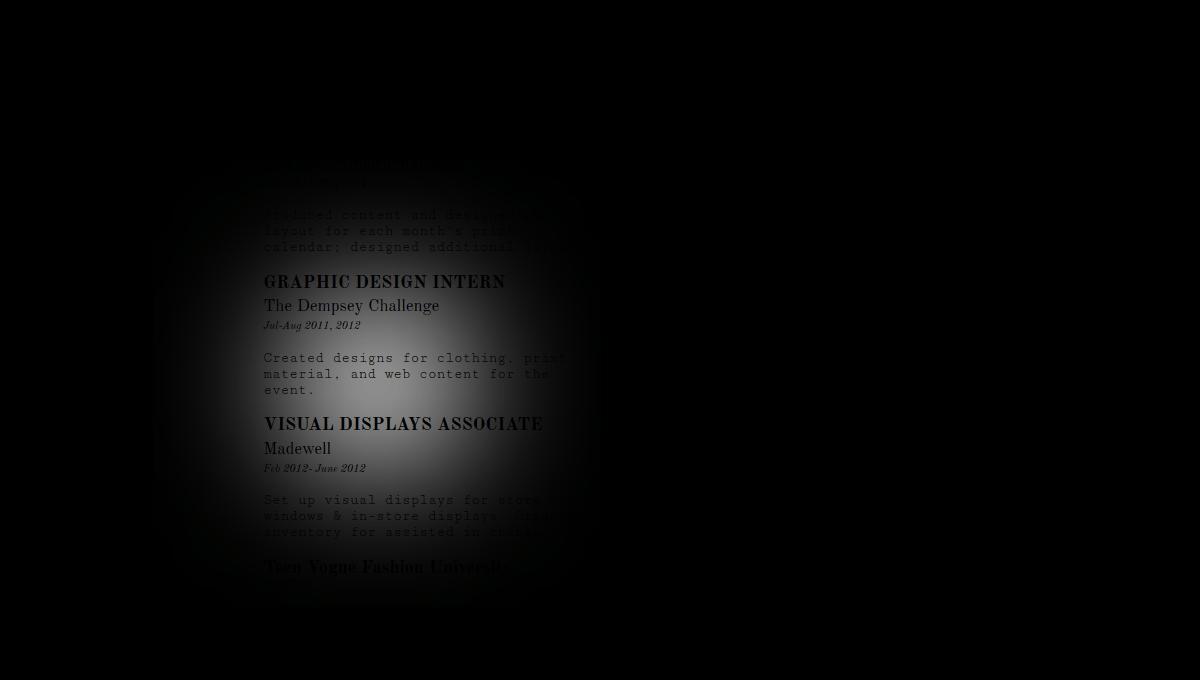 Demo image: Interactive Resume