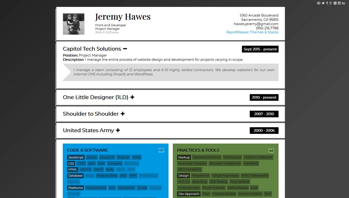 Demo image: Responsive Resume