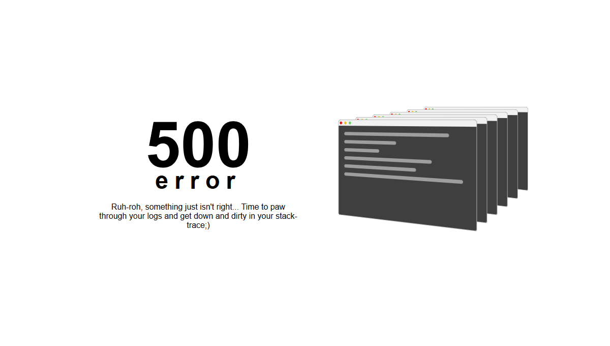 thumb image: 500 Error Page
