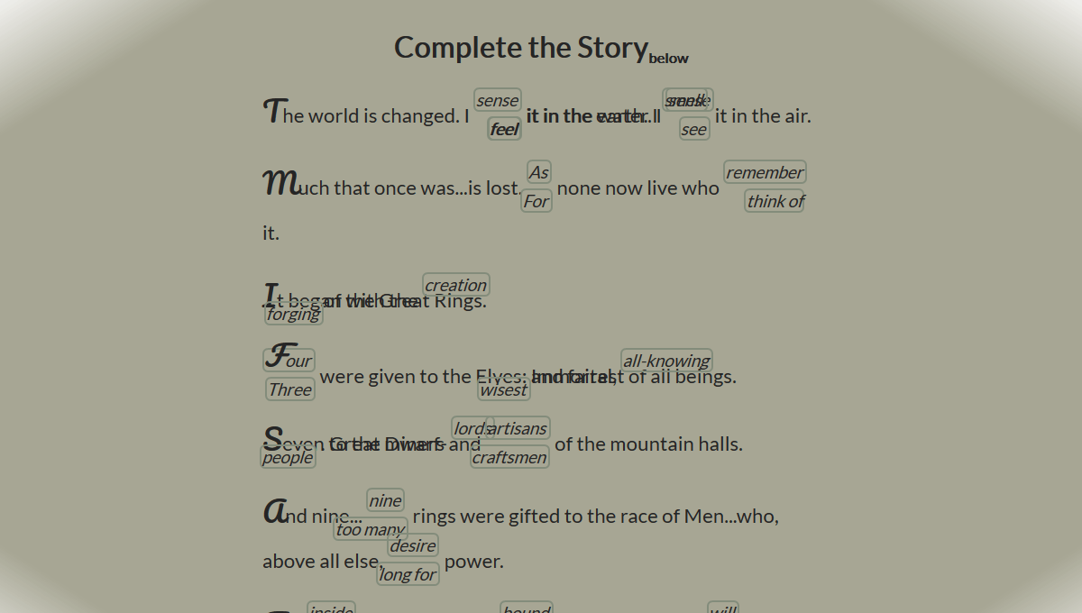 Demo image: Complete the Story