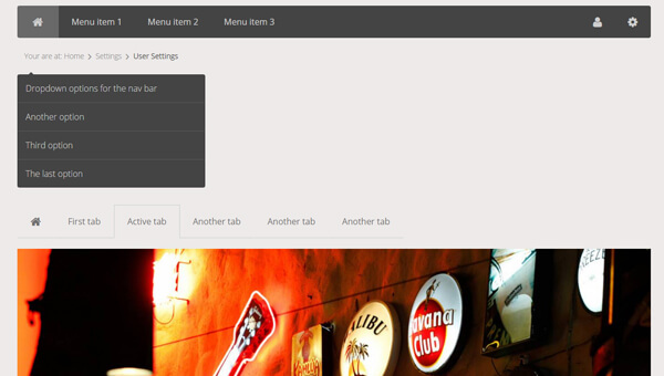 Demo Image: Flatby UI