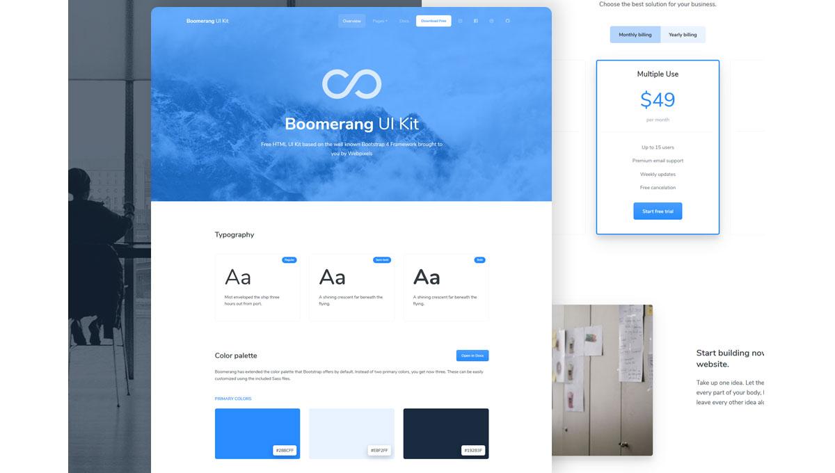 Demo image: Boomerang UI Kit