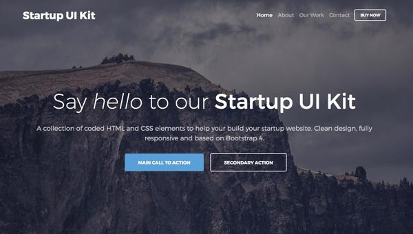 Demo Image: Free Bootstrap 4 Startup UI Kit