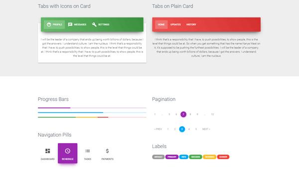 Demo Image: Material Kit - Free Bootstrap UI Kit