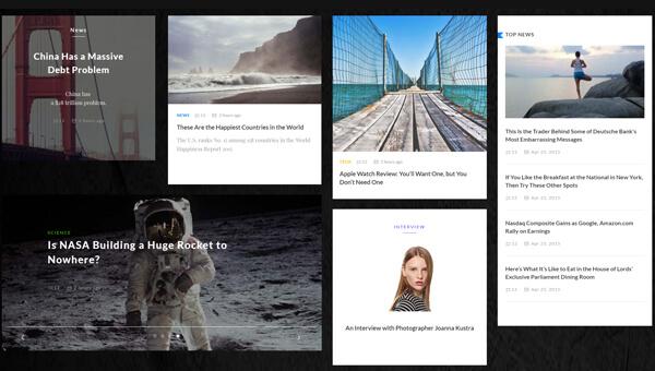 Demo Image: Azure Blog UI Kit a Flat Bootstrap