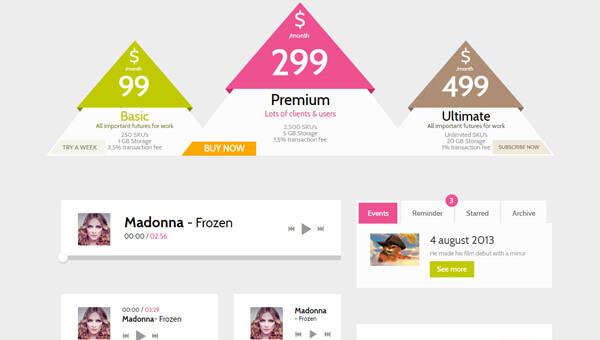 Demo Image: Skinny Frames Bootstrap UI Kit