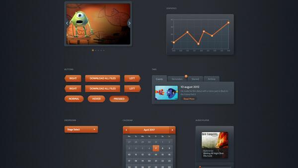 Demo Image: Dark Velvet Bootstrap UI Kit
