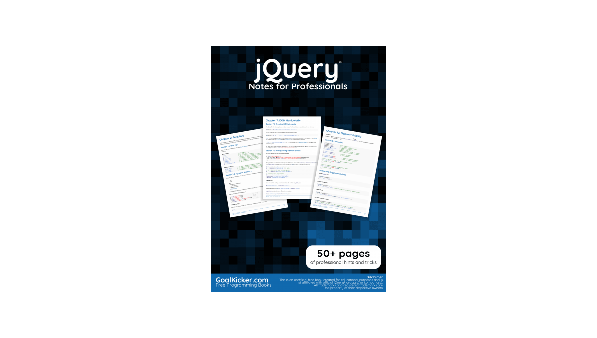 Book image: jQuery Notes for Professionals