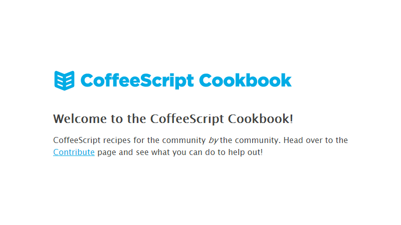 Cover Image: CoffeeScript Cookbook