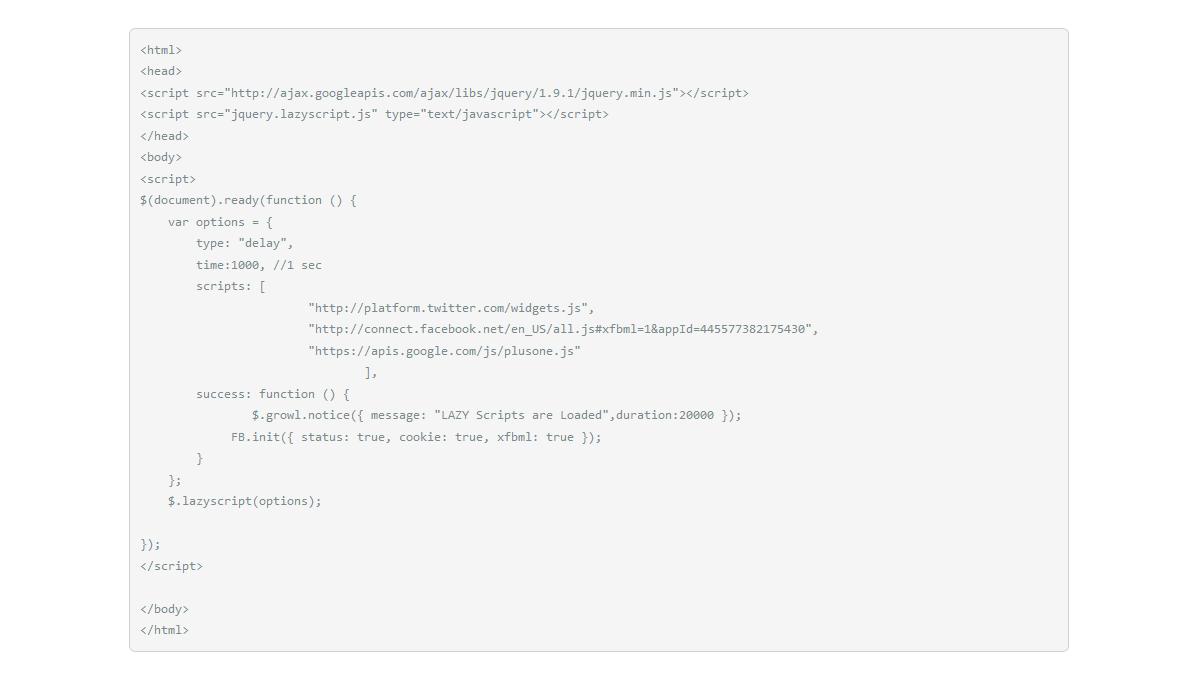 Demo image: jQuery Lazy Script