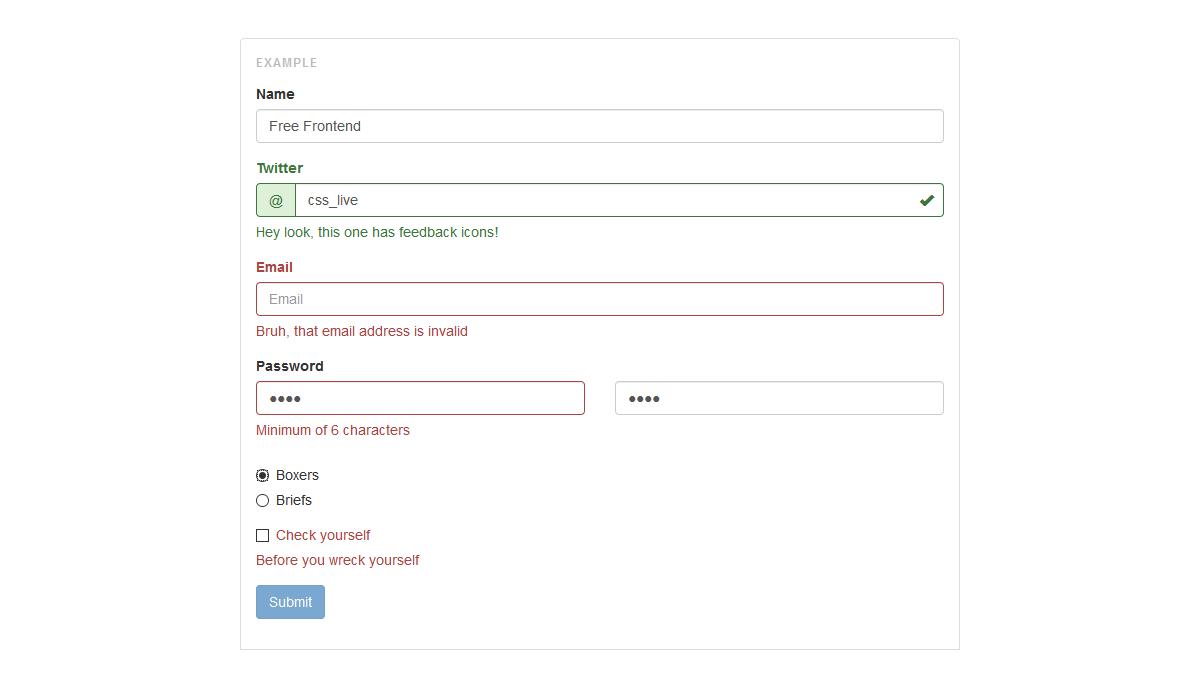 Demo image: Validator, for Bootstrap 3