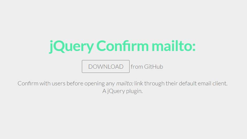 Demo image: jQuery Confirm mailto: