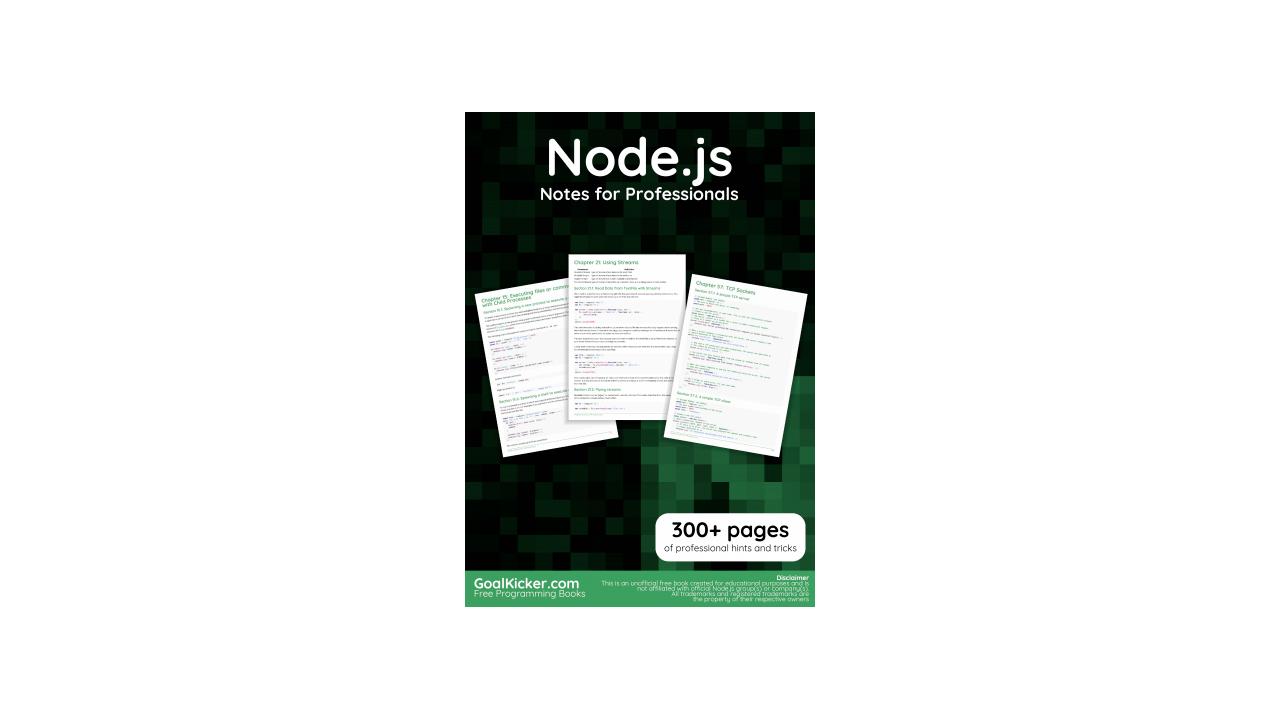 Book image: Node.js Notes for Professionals