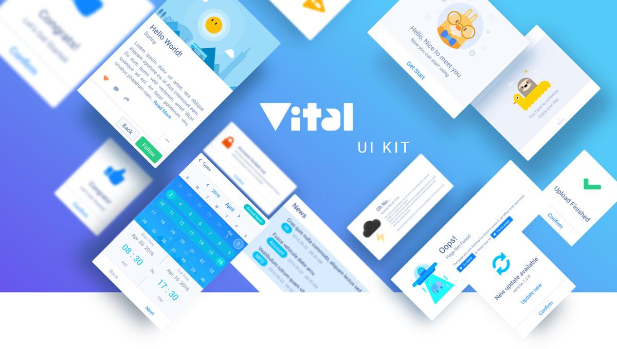 Demo image: Vital HTML UI Kit