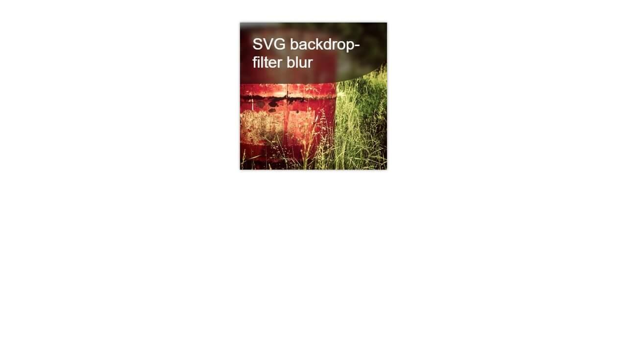 Demo image: backdrop-filter Using SVG Filter