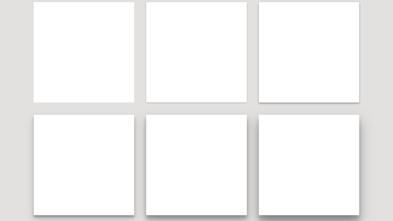 Demo image: Material Design Box Shadows